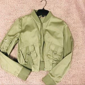Jackets & Blazers - Army Green Bomber Jacket